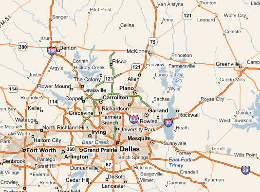 Texas Map Of Cities Images